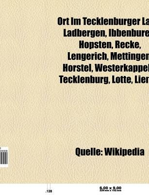 Ort Im Tecklenburger Land - Ibbenburen, Ladbergen, Hopsten, Recke, Lengerich, Mettingen, Horstel, Tecklenburg, Westerkappeln,...