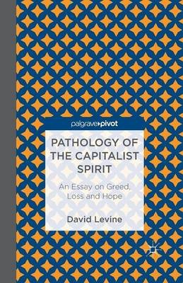Pathology of the Capitalist Spirit - An Essay on Greed, Loss, and Hope (Paperback, 1st ed. 2013): D. Levine