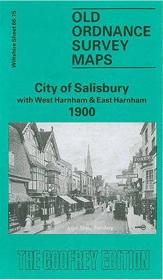 City of Salisbury 1900 - Wiltshire Sheet 66.15 (Sheet map, folded, Facsimile of 1900 ed): Alan Godfrey