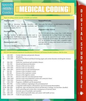 Medical Coding (Speedy Study Guides) (Electronic book text): Speedy Publishing LLC