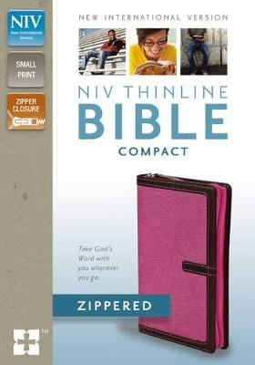 NIV Thinline Zippered Collection Bible, Compact (Leather / fine binding, Special edition): Zondervan