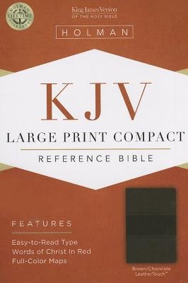 Large Print Compact Reference Bible-KJV (Large print, Leather / fine binding, Large type / large print edition): Holman Bible...