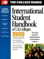 The International Student Handbook of U.S. Colleges (Paperback, 12th): College Board