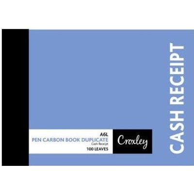 Croxley JD16cr A6l Cash Receipt Carbon Book (100 Leaves)(10-Pack):