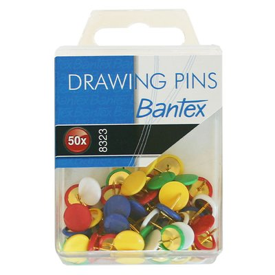 Bantex Drawing Pins (50 Pack):