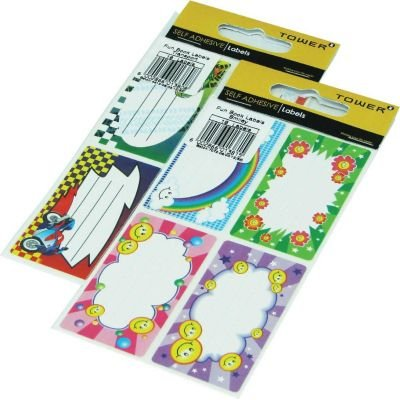 Tower Fun Book Labels - Smiley (16 Pack):