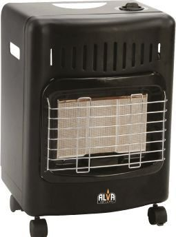 Alva 3 Panel Domestic Heater (Black):