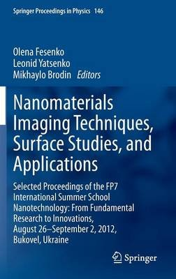 Nanomaterials Imaging Techniques, Surface Studies, and Applications - Selected Proceedings of the FP7 International Summer...