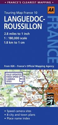 Languedoc-Roussillon, No. 10 - AA Touring Map France (Sheet map, folded): AA Publishing