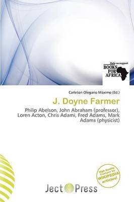 J. Doyne Farmer (Paperback): Carleton Olegario M. Ximo