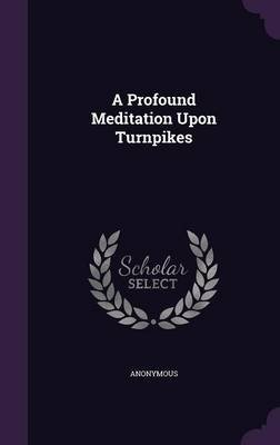 A Profound Meditation Upon Turnpikes (Hardcover): Anonymous
