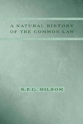 A Natural History of the Common Law (Hardcover, New): S.F.C. Milsom
