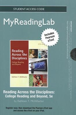 NEW MyReadingLab with Pearson Etext - Standalone Access Card - for Reading Across the Disciplines (Online resource, 5th Revised...