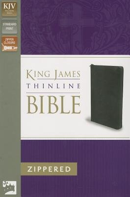 KJV, Thinline Zippered Collection Bible (Leather / fine binding): Zondervan