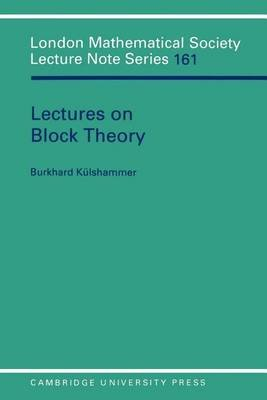 Lectures on Block Theory (Electronic book text):