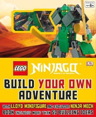 LEGO (R) NINJAGO (R) Build Your Own Adventure - With Lloyd minifigure and Ninja Mech model (Hardcover): Dk