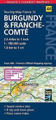 Burgundy and Franche-Comte (Sheet map, folded, 3rd Revised edition):