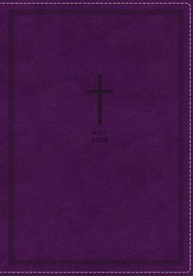 NKJV, Thinline Reference Bible, Large Print, Leathersoft, Purple, Red Letter, Comfort Print - Holy Bible, New King James...