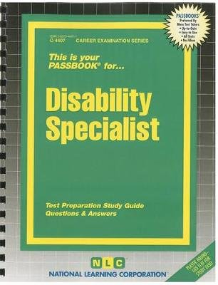 Disability Specialist - Test Preparation Study Guide Questions & Answers (Spiral bound): National Learning Corporation