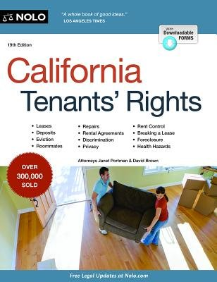 California Tenants' Rights (Paperback, 19th ed.): Janet Portman