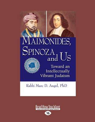 Maimonides, Spinoza and Us - Toward an Intellectually Vibrant Judaism (Large print, Paperback, [Large Print]): Rabbi Marc D....