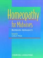 Homeopathy for Midwives (Paperback): Barbara Geraghty