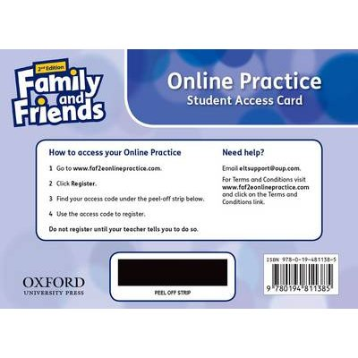 Family and Friends: Level 3: Online Practice Student Access Card (Mixed media product, 2nd Revised edition): Naomi Simmons,...