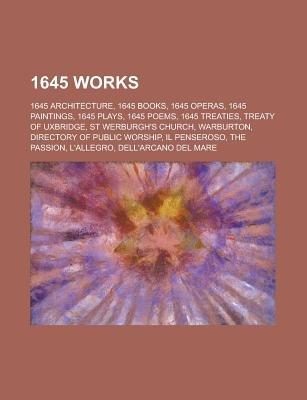 1645 Works - Directory of Public Worship, Ulriksdal Palace, (Paperback): Books Llc