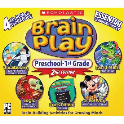 Brain Play - Preschool-1st Grade (CD-ROM, 2nd): Scholastic