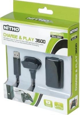 Nitho Charge and Play Kit for Xbox 360 (Black):