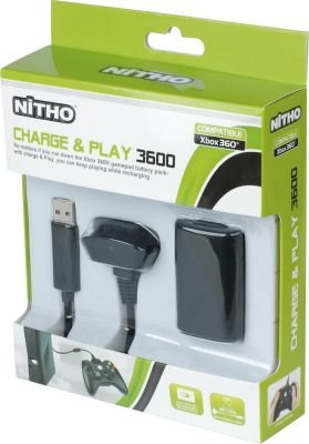 Nitho Charge and Play Kit for Xbox 360 (Black):