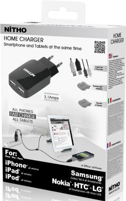 Nitho Dual Home Charger for SmartPhones and Tablets: