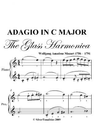 Adagio in C Major Glass Harmonica Easy Piano Sheet Music