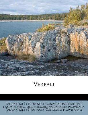 Verbali (Italian, Paperback): Padua (Italy Province) Commissione Re