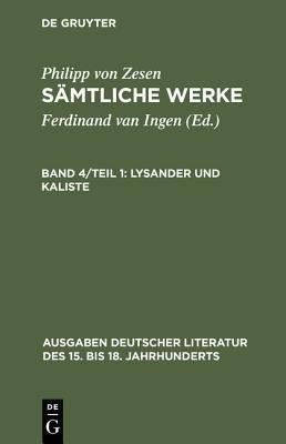 Lysander Und Kaliste (German, Book):