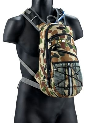 Oztrail Blue Tongue Camo 2L Hydration Pack:
