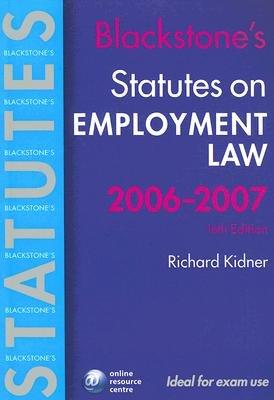 Employment Law (Paperback, 2006-07): Richard Kidner