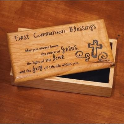 1st Communion Wood Box:
