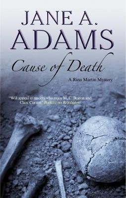 Cause of Death (Large print, Hardcover, Large type edition): Jane A. Adams