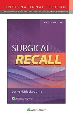 Surgical Recall (Paperback, Eighth, International Edition): Lorne Blackbourne