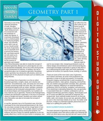 Geometry Part 1 (Speedy Study Guides) (Electronic book text): Speedy Publishing LLC