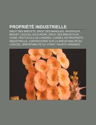 Propriete Industrielle - Droit Des Brevets, Droit Des Marques, Inventeur, Brevet Logiciel En Europe, Droit Des Brevets En Chine...