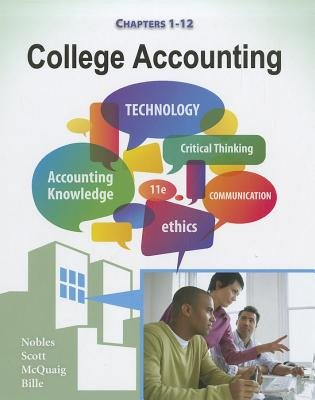 College Accounting, Chapters 1-12, Chapters 1-12 (Hardcover, 11th Revised edition): Patricia A Bille, Douglas J McQuaig, Tracie...