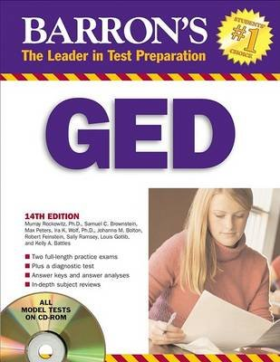 Barron's GED - High School Equivalency Exam (Paperback, 14th): Murray Rockowitz, Samuel C. Brownstein, Max Peters