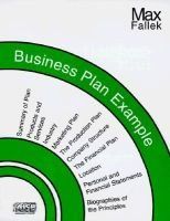 Business Plan Example (Paperback, illustrated edition): Max Fallek