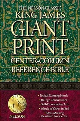 Nelson's Classic Giant Print Center-Column Reference Bible/Style 893b/King JA Version/Navy Leatherflex (Paperback):
