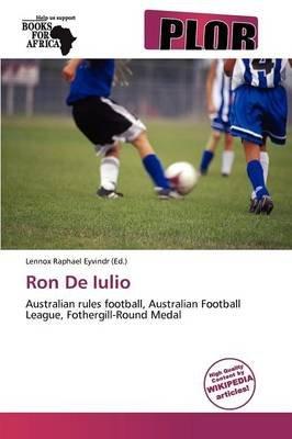 Ron de Iulio (Paperback):