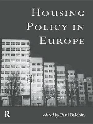 Housing Policy in Europe (Electronic book text): Paul Balchin