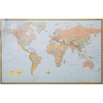 History world map laminated sheet map flat for sale in cape world map laminated sheet map flat picture gumiabroncs Gallery