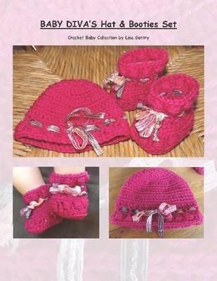 Baby Divas Hat Bootie Set Crochet Pattern Electronic Book Text